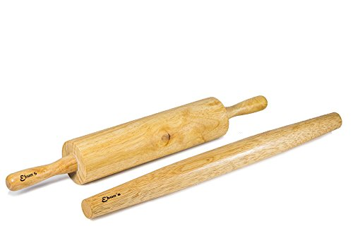 Ebuns rolling pin for baking pie pizza cookies kitchen for Kitchen pin