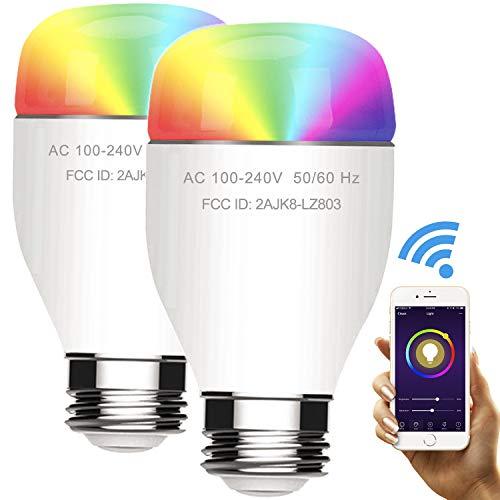 Smart Light Bulb Wi-Fi Color LED Light Work with Alexa & Goo