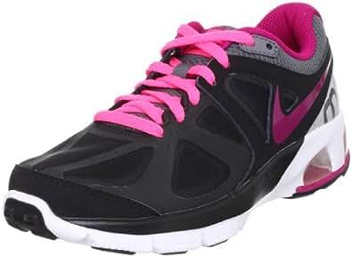 Womens Nike Air Max Run Lite 4 Running Shoe Black/Metallic Dark Grey/Metallic Platinum/Sport Fuchsia Size 10