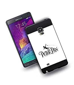 Spigen Ultra Hybrid Funda Para Samsung Galaxy Note 4 Peter PAN Espejo Ultra Slim Resitstente ProteccióN Tapa Carcasa Para for Boys Color Negro