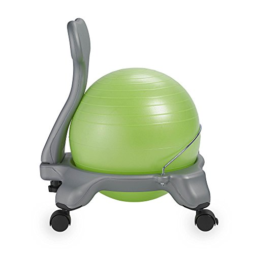 Gaiam Kids Balance Ball Chair - Classic Children's Stability Ball Chair, Alternative School Classroom Flexible Desk Seating for Active Students with Satisfaction Guarantee, Green by Gaiam (Image #2)