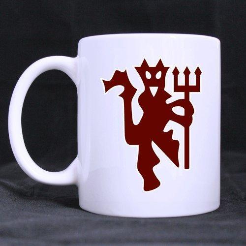 - 2buymore Mug Cool Manchester United Devil Logo 11 OZ White Mug 100% Ceramic Coffee/Tea White Cup