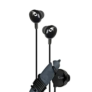 iLuv iEP311BLK The Bean In-Ear Stereo Earphone with Volume Control - Black (Discontinued by Manufacturer)