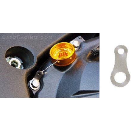 Sato Racing Titanium Locking Plate For Oil Filler Caps