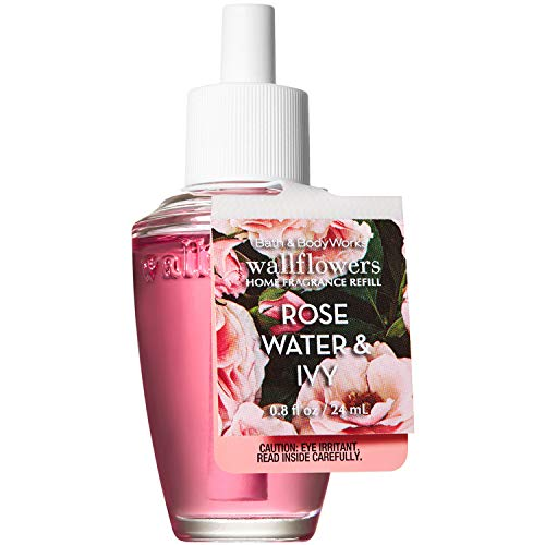 Bath and Body Works Rose Water and Ivy Wallflowers Home Fragrance Refill 0.8 Fluid ()