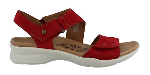 Earth Women's Peak Sandal,Bright Red Soft Buck,US 7.5 M