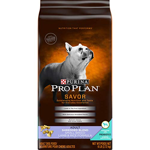 Purina Pro Plan With Probiotics Small Breed Dry Dog Food, SAVOR Shredded Blend Lamb & Rice Formula - 6 lb. Bag