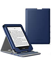 MoKo Case Fits Kindle Paperwhite (10th Generation, 2018 Releases), Premium Vertical Flip Cover with Auto Wake/Sleep Compatible for Amazon Kindle Paperwhite 2018 E-reader - Indigo