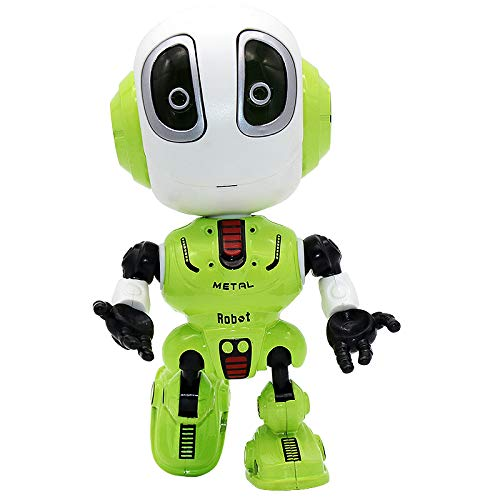 CONVLI Robots for Kids,Talking Interactive Voice Controlled Touch Sensor Your Voice,Sound, Flashing Lights Kids Boys Girls Gift (Green)