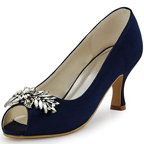 navy blue evening shoes