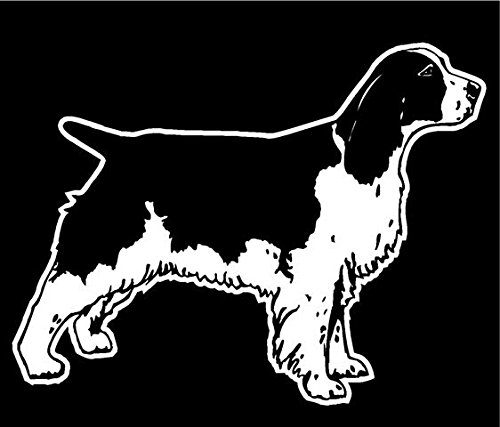 Springer Spaniel Sticker - Springer Spaniel v2 Decal Sticker - Peel and Stick Sticker Graphic - - Auto, Wall, Laptop, Cell, Truck Sticker for Windows, Cars, Trucks