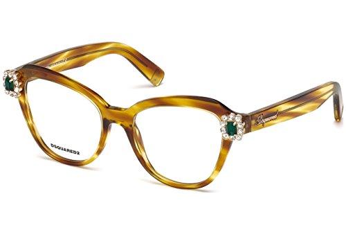 1e41eed6669fd4 Eyeglasses Dsquared DQ5212 V 047 light brown frame Size 53 18 140