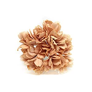 Savvi Jewels 2.5cm Peach Mulberry Paper Flowers with Wire Stems, Babys Breath Flowers, Mini Artificial Paper Flowers, Wedding Decor Craft Flowers 50 Pieces 98
