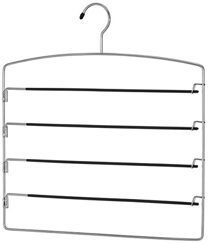 Whitmor Swing Arm Slack Hanger - Closet Pants Organizer - Slip Free - Chrome