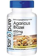 Agaricus Blazei 650mg (ABM - Agaricus Blazei Murill) - vitale schimmel - vegan - natuurlijk - zonder magnesiumstearaat - 120 capsules