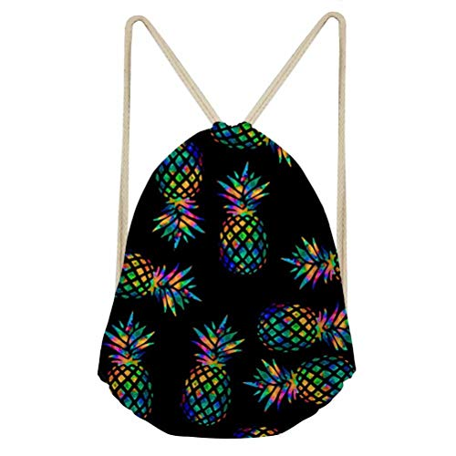 - Drawstring Backpack Girls Pineapple Pattern Outdoor Sport Travel Gym Workout Bag