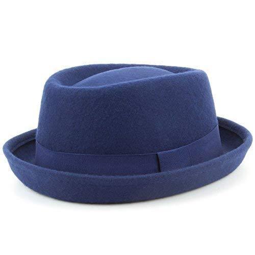 Hawkins Sombrero de Cerdo de Lana Trilby 100% Unisex Banda Brim Fedora  Jazz  Amazon.es  Ropa y accesorios b281a6687df