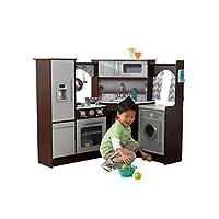 KidKraft Ultimate Corner Play Kitchen con luces y sonidos, marrón /blanco