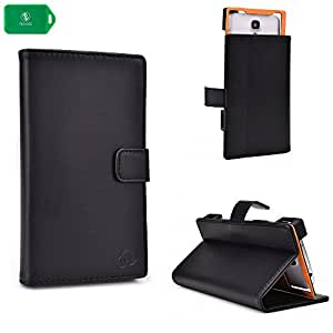 SLIM FOLIO SMART PHONE COVER | BLACK| UNIVERSAL DESIGN FITS Cricket Samsung Galaxy Discover Smartphone