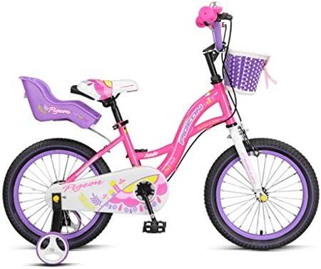 14, Bicicletas de 16 Pulgadas para niños Bicicletas para niños de 3 a 8 años de Edad Regalos para niños Bicicletas para niños Bicis Rosa Amarilla (Color : Pink, Size : 14INCHES):