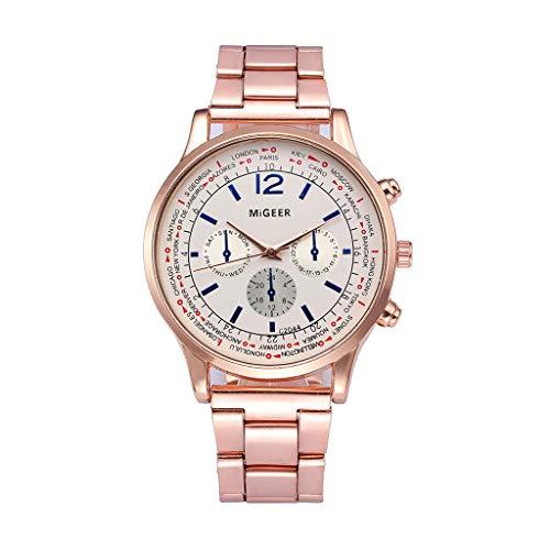 (Muranba 2019 ! Fashion Man Crystal Stainless Steel Analog Quartz Wrist Watch (I))