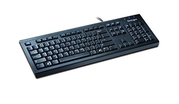 Kensington K64370 - Teclado (USB+PS/2, Negro, Oficina, Estándar, QWERTY): Amazon.es: Informática