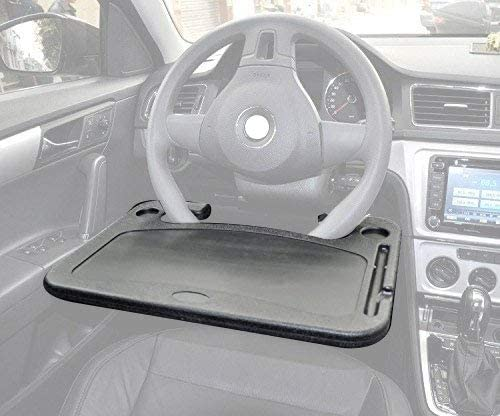 Cutequeen Trading automobile 1pcs Eating/Laptop Steering Wheel Desk Black(Pack of one)