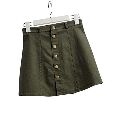 8c9c05a409 BaZhaHei Falda Corta de Mujer Vestidos de Mujer Falda de Cintura de Moda de Mujer  Estilo Coreano Falda Vaquera YE L Falda Vaquera AGL para Mujer  Amazon.es   ...