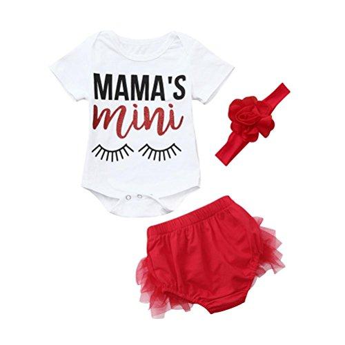 Cuekondy Baby Girls Infant Toddler Dream Catcher Romper Jumpsuit +Tutu Skirt +Headband Outfit Clothes 3pcs 3-18 Months (White 1, 6M)