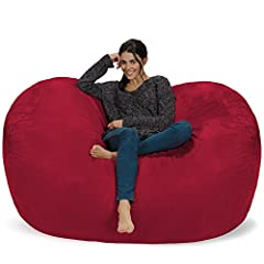 Need a new place to chill? How about a form-fitting memory foam chair that's big enough to share? Introducing the Chill Sack.   FUN FOR EVERYONE:  Add some fun to your basement hangout, dorm room, or bedroom with this super comfy bean bag cha...