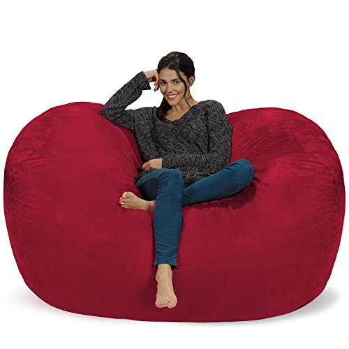 Chill Sack Bean Bag Chair: Huge 6' Memory Foam Furniture Bag and Large Lounger - Big Sofa with Soft Micro Fiber Cover - -