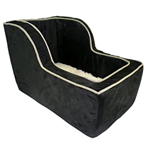 snoozer luxury high back console lookout black with herringbone cording large. Black Bedroom Furniture Sets. Home Design Ideas