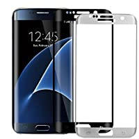 S7 Screen Protector,ALCLAP S7 Tempered Glass Full Coverage Screen Protector Film HD Clear Anti-Bubble for Samsung Galaxy S7(Black/Silver) from ALCLAP
