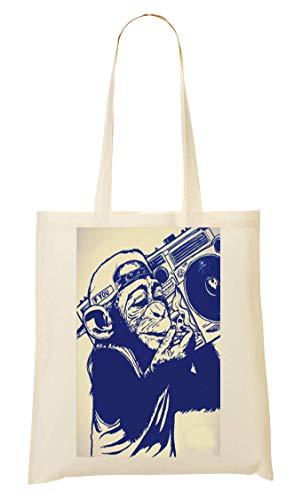 Rap Di To Monkey Funny amp; Nice Collection Tote Music Lifestyle Biz Joke Bag Sacchetto rwHPqzr1