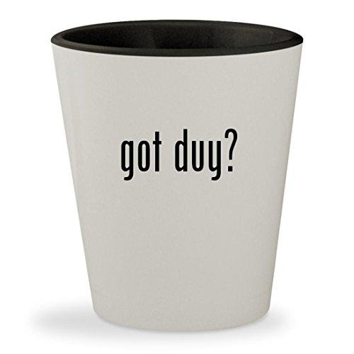 got duy? - White Outer & Black Inner Ceramic 1.5oz Shot Glass (Videos Scuba Gear Books)