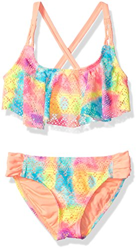 Angel Beach Big Girls' Swim Paradise Ombre Bikini Set, Multi, 12