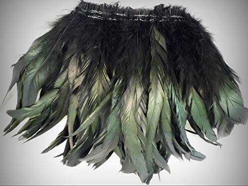 (1 Packet of 15pc Black Iridescent Rooster Tails Craft Crafting Feather 8