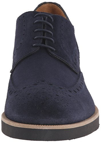 Gordon Jag Menns Sawyer Oxford Navy Semsket Skinn ...