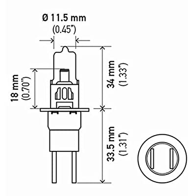HELLA H71071342 Optilux XY Series H3C Xenon Yellow Halogen Bulbs, 12V, 55W 2 Pack: Automotive