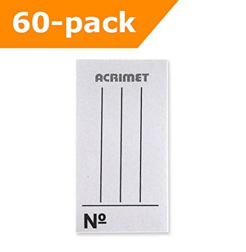Acrimet Paper Insert for Acrimet Key Tags (White) (60 Pack)