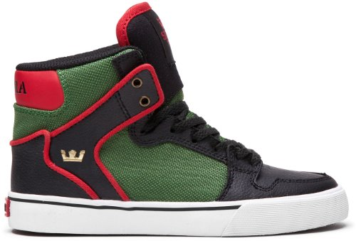 Supra Men's Kids Vaider Gymnastics Shoes Multicolor Size: - Black/Forest Green/White sale cheap price t6eiFNa