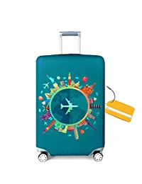 OrgaWise Luggage Cover Luggage Protector Cover Suitcase Protective Cover Trolley Luggage Case for 22''-28'' Inch Luggage + Luggage Tag(L)