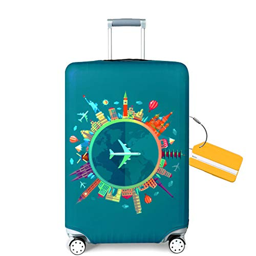 "OrgaWise Luggage Cover Luggage Protector Cover Suitcase Protective Cover Trolley Luggage Case for 22""-28"" Inch Luggage…"