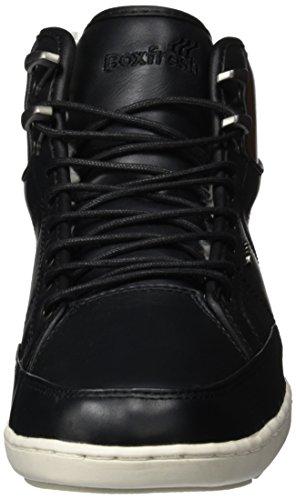Boxfresh Swapp Prem Blok Uh Lea Blk, Sneaker Alte Uomo Nero (Nero)