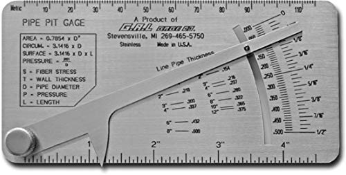 Pipe Thread Gage - G.A.L. Gage Co. - Pipe Pit Gage GAL-17