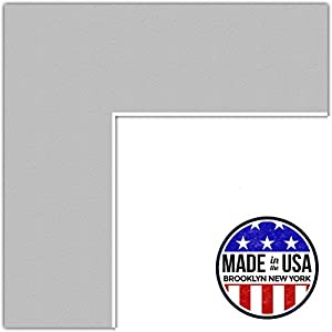 22x28 Gray / TV Grey Custom Mat for Picture Frame with 18x24 opening size (Mat Only, Frame NOT Included)