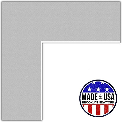 22x30 Gray / TV Grey Custom Mat for Picture Frame with 18x26 opening size (Mat Only, Frame NOT Included)