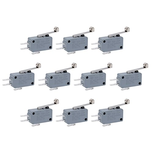 uxcell 10 Pcs G5T16-E1Z200A06 Miniature Micro Limit Switch Long Hinge Roller Lever Arm SPDT Snap Action (Limit Switch Body)