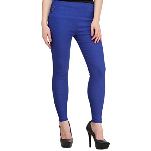 DAMEN MODE Royal Blue Zipper Women Jeggings