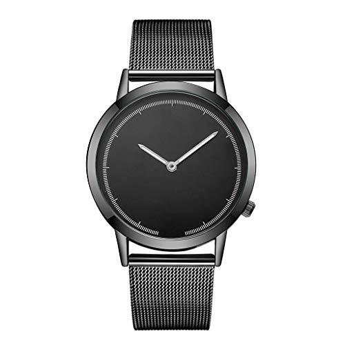 Fxbar,Mens Minimalist Milanese Mesh Band Business Wristwatch Quartz Analog Wrist Watch Dress Watch(B)